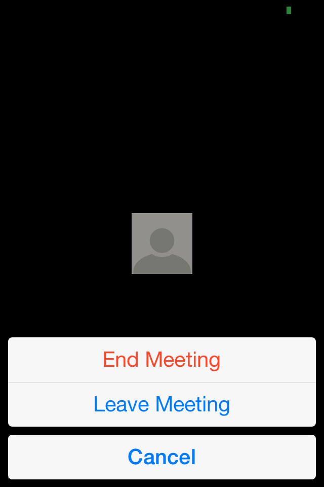 End/leave meeting End the meeting, or leave the meeting