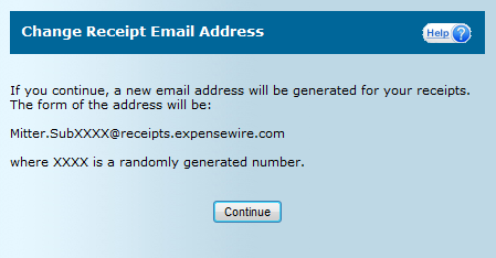 3.7 Determining Receipts Email Address Receipts can be emailed to ExpenseWire from smart phones or computers. In order to determine the email address used for an account open My Profile.