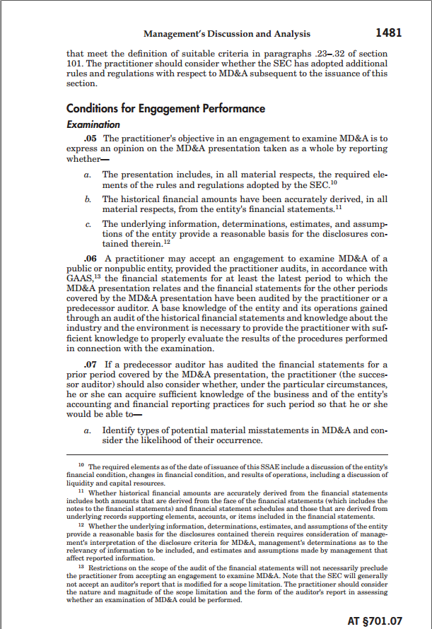 1-44 Management s Discussion & Analysis (MD&A) A portion of an organization's annual report that is written for shareholders in which management