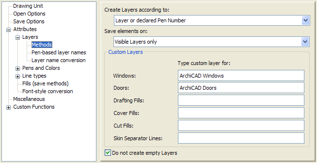 Use this translator to save ArchiCAD layouts/views in DXF/DWG format