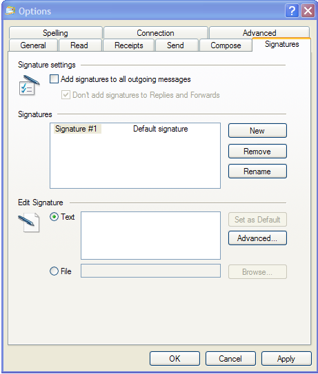 SETTING UP EMAIL SIGNATURES IN WINDOWS LIVE MAIL Instead of typing your name and contact information every time you send an email, Live Mail can take care of it for you with automated email