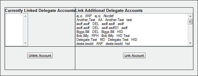 User Management Delegate Accounts This section describes how to activate a delegate account by linking it to your master account and how to unlink delegate accounts that should no longer be