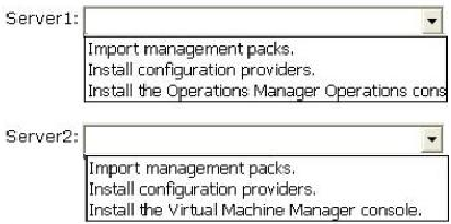 Answer: QUESTION NO: 10 You need to configure VMM 2012 to meet the private cloud services requirements for the human resources department users. What should you configure?
