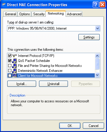 3. In the Maximum speed (bps) drop-down list box, click the speed of the NAE/NIE port to which the computer is connecting. Note: Use Serial A port on the NAE/NIE for direct serial connections.