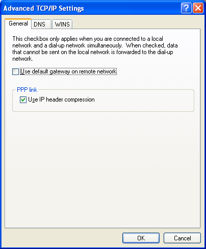 Figure 38: Advanced TCP/IP Settings Screen 8. Click OK. Go to the Establishing the Connection section in this document. Establishing the Connection Important: The download process can take up to 1.