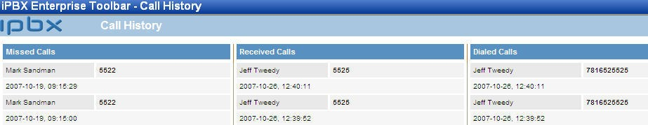 Enterprise Toolbar automatically places the call. Speed Dial Directory You can dial from the speed dial directory. 1.