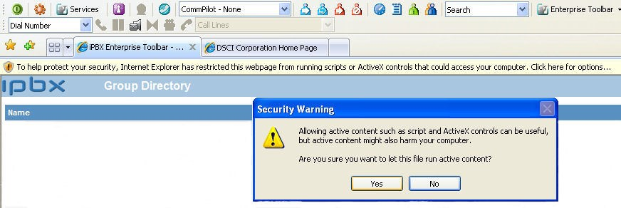 Verify that the version area of the page lists DSCI Enterprise Toolbar. Make the Enterprise Toolbar visible: 1. Right-click an empty area of the toolbar region in Outlook.