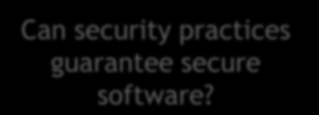 Thoughts to Consider Is 100% security defect free software possible?