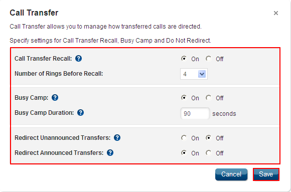 Call Transfer Feature Description Call Transfer manages how transferred calls are directed. It is available with the VoiceManager Office and Anywhere packages, and IP Centrex service.