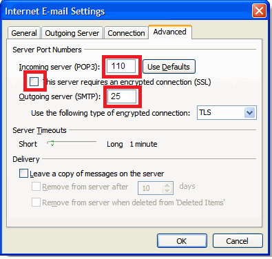 Click the More Settings... button 6. Select the Outgoing Server tab. 7. Verify My outgoing server (SMTP) requires authentication is selected and select Use same settings as my incoming mail server. 8.