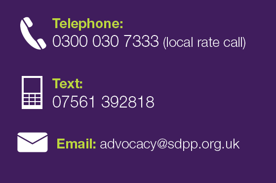 NHS Complaints Advocacy Telephone 0300 030 7333 Text 07561 392818