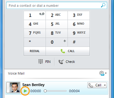 Voice mail Listen to voice mail Did you miss a call? The Phone view lets you know and also lists your voice mail messages. The tab glows and displays the number of missed calls.