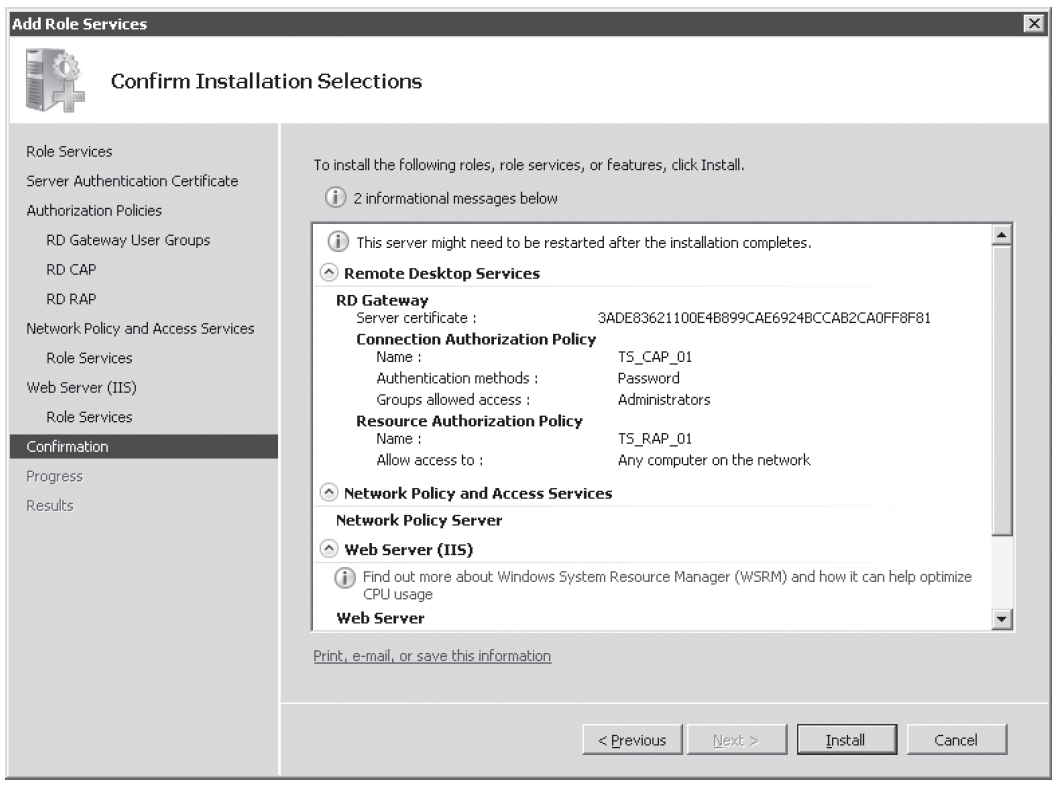 Figure 4-26 Confirm Installation