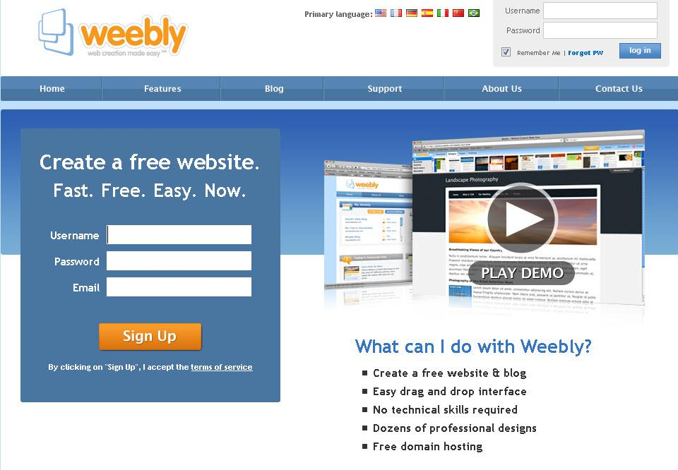 Weebly.