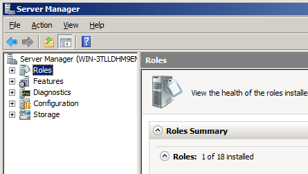 3. In the Roles Summary section in the main window, click Add Roles on the right and the Add Roles Wizard will open. 4. You should see the Before You Begin screen, click Next 5.