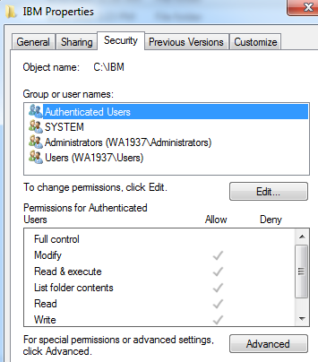 Part 8 - Modify File Permissions Note: These steps allow full access to the directories used by the RAD and WebSphere installs.