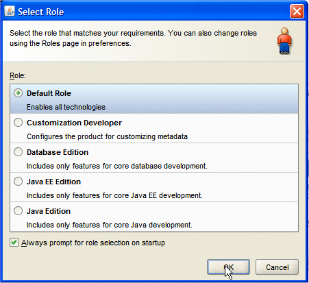 2. If the Migrate User Settings dialog box opens, click NO. If prompted for a User Role, choose Default Role. Close the Tip of the Day window. 3.