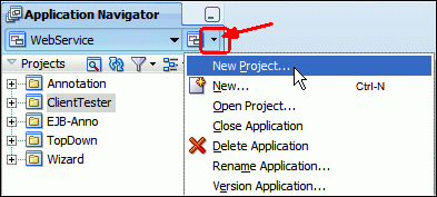 4. Close all tabs in the editor, close the Run Manager window, and collapse all of the projects in the Application Navigator.