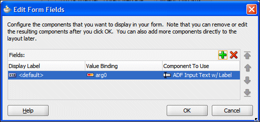 5. In the Edit Form Fields window click OK to accept the default values. Click OK. 6.