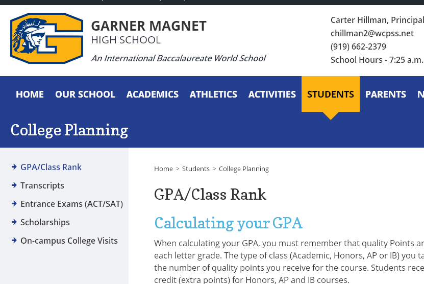 Resources on the GMHS Webpage http://www.wcpss.