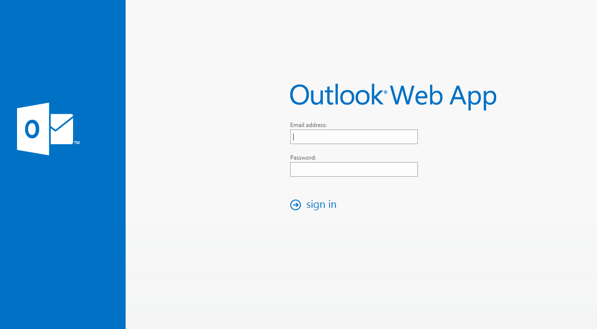 Excalibur Hosted Exchange Outlook Web Access 1) Open a web Browser and in the address field enter https://mail.excalhost.