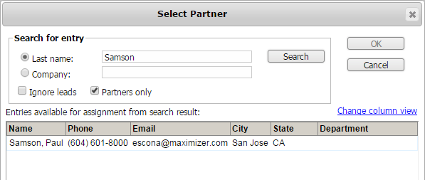 Retrieving partners in Address Book page Two search functions related to partner have been added into Address Book > Search menu.