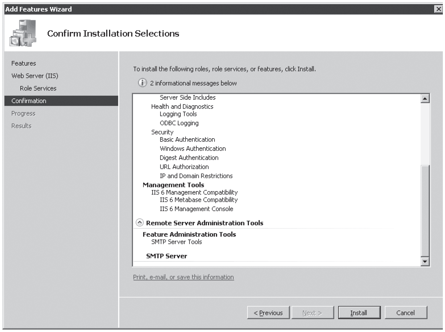 Figure 6-16 Confirm Installation