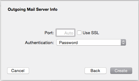 14. Click Next. You will be asked to enter in your outgoing mail server details. 15. Complete the following information from the table at the top of the article: SMTP server: smtp.partnerconsole.
