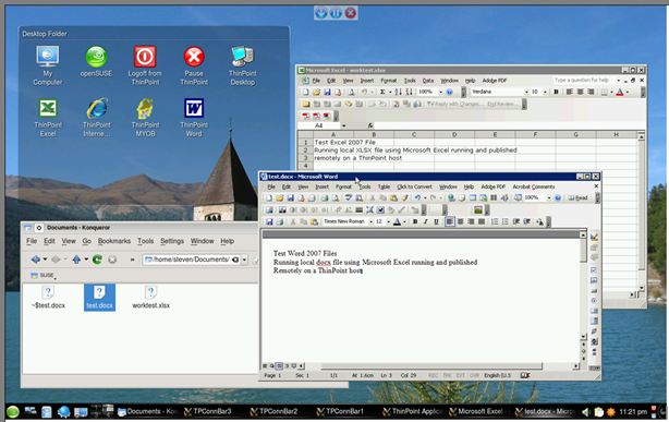 ThinPoint Client Guide 53 ThinPoint Reverse Application Streaming technology is fully integrated with the Linux client Desktop.