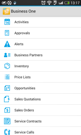Introduction This SAP Business One mobile app for Android provides access to your most relevant business information to help you run your business from any location, at any time.