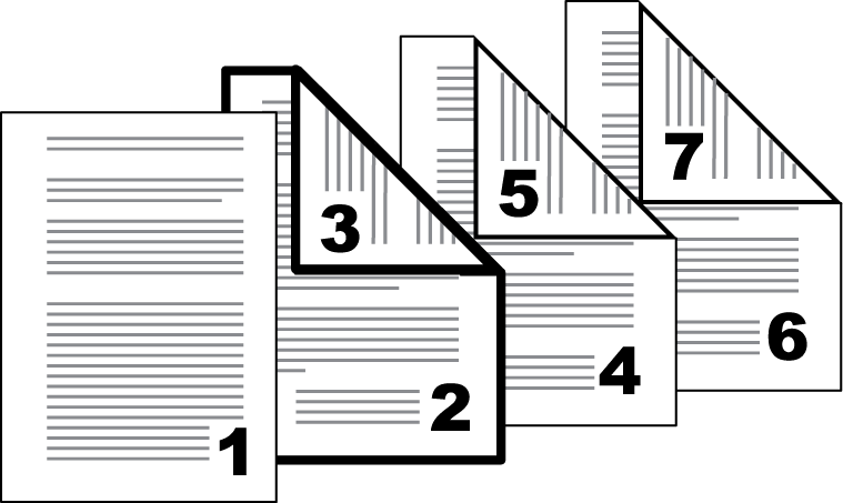 Publishing Page Insertion Options Check Box Selection Page insert Page Insertion Type Inserts a blank page. Page insert Print onto front Prints on the front side of the inserted page.
