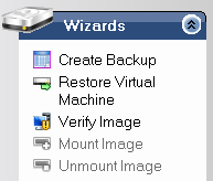 2.2. Create Backup Image File The following are the procedures how to create backup image file for Hyper-V Server using ActiveImage console.