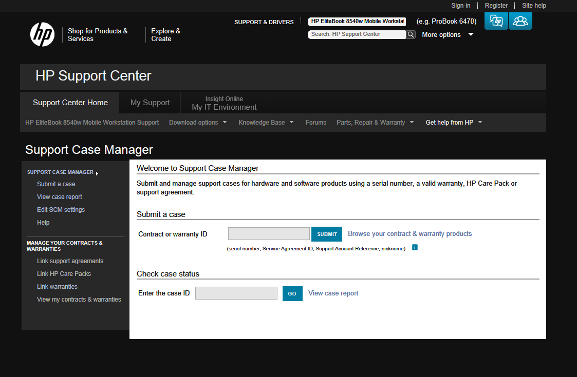 Online Case Management tools- Online Case Management tools Support Case Manager (SCM) is a web-based tool designed for managing HP support cases for HP products.