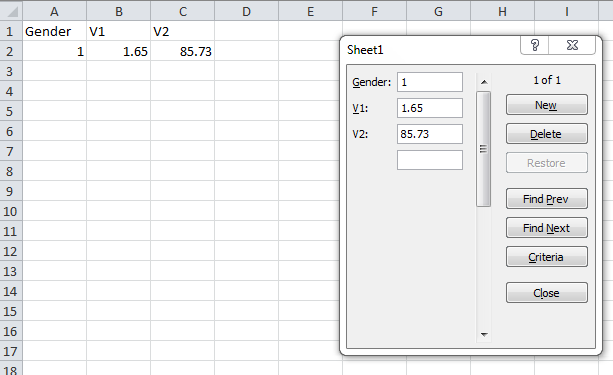 Data entry in Excel Enter data use Form Data Click New to add the second record You need to enter