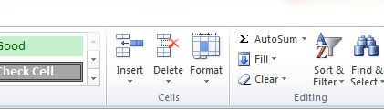 Data entry in Excel From the