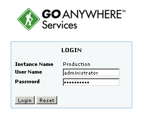 Getting Started Authorized Users access GoAnywhere Services s browser-based dashboard to perform configuration and monitoring within the application.