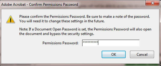 10. Select the level of permission and click Ok at the bottom of the window. 11.