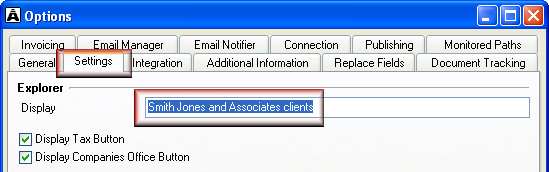 Customise Contacts window You can rename the Contacts window and the Contacts button on the Acclipse Document Manager toolbar.