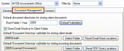 5. Follow these steps if you have Acclipse PDF Manager and wish to select a default folder to save scanned documents in: a. Click Select Folder beside the Reset PDF Store Locations button. b. Select a folder (eg Scanned Documents).