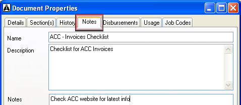 Add notes about document To add notes about a document: 1. Select the document. 2. Access its properties using ONE of these methods: Select Content Properties. Click the properties icon.