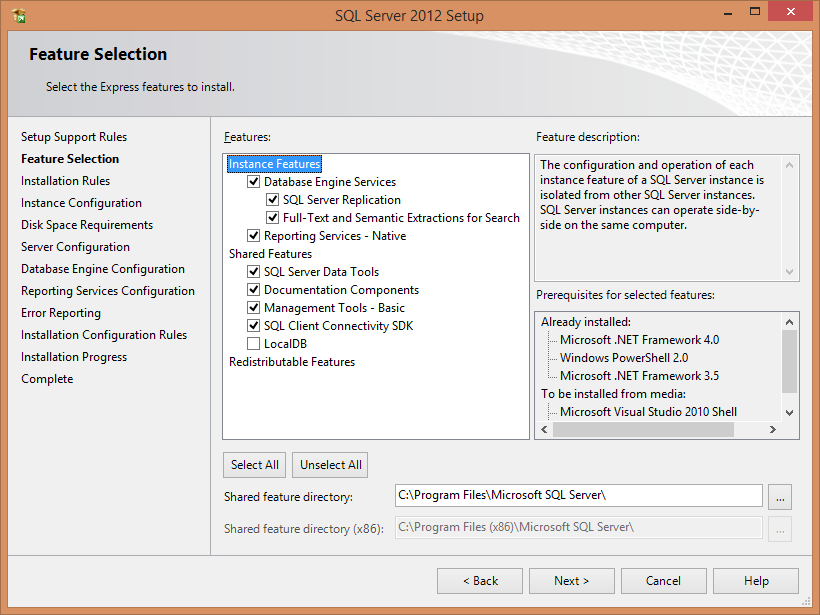 Page 11 The installer will now give you the option to name your instance of SQL Server.