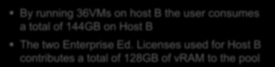 How Many s Can I Power-on a Host? By running 36s on host B the user consumes a total of 144GB on The two Enterprise Ed.