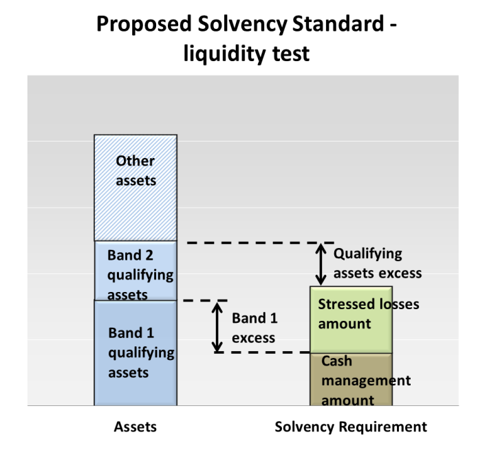 Asset tests: Structure of the Solvency Standard Test 1 liquidity test The liquidity test in the Solvency Standard is designed to ensure that the fund has sufficient high quality liquid assets in