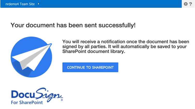 5 Documents Edit - to add or remove the documents Refer to the DocuSign Help for more details about sending your document. Click Send to send the document for signing.