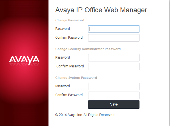 Web Manager: 6.1 Logging In to Web Manager Avaya supports the following browsers for web access to the server menus: Microsoft Internet Explorer 10 and 11.