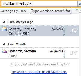 Search Email: From the Home tab, click the expand button next to Filter Email.