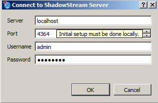Configuration The ShadowStream server needs to be configured. Configuration options include: Users Shares on the server Opening the firewall to allow ShadowControl ImageManager to communicate 1.