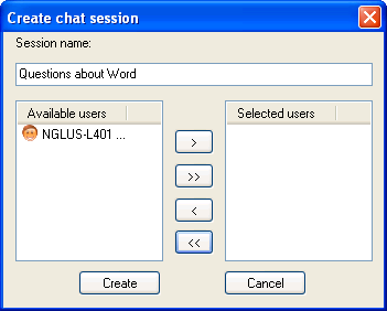 Chat with your students 25 To start a chat session 1. On the Vision toolbar, click the Chat button. 2. On the Chat menu, click New session. 3. Enter a name for the session. 4.