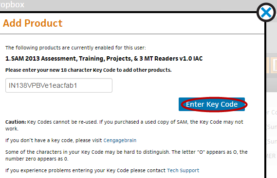 Step 2 Enter the product s 18-digit Key Code. If you need to purchase a Key Code, go to http://www.cengagebrain.com.