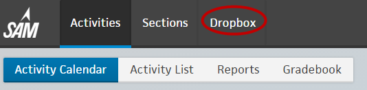 Step 1 On the Navigation bar, click Dropbox. 2 On the Section drop-down menu, select the section for the Dropbox you want to view. 3 Click Submit New File to upload a file.